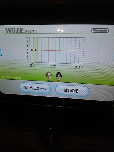 Wii Fitを投入しました。