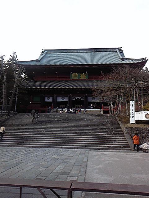 日曜日は輪王寺へ行きました。