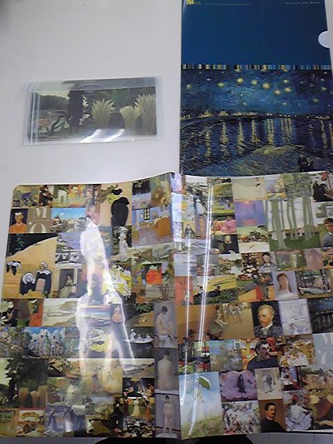 オルセー美術館展で買ったグッズの数々。