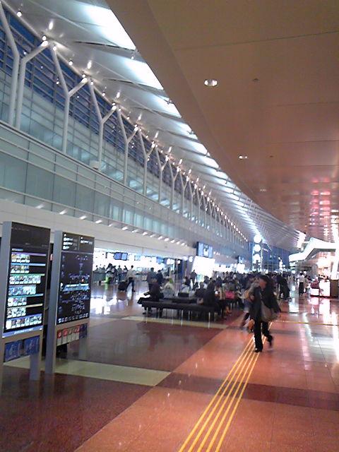 新しくなった羽田空港です。